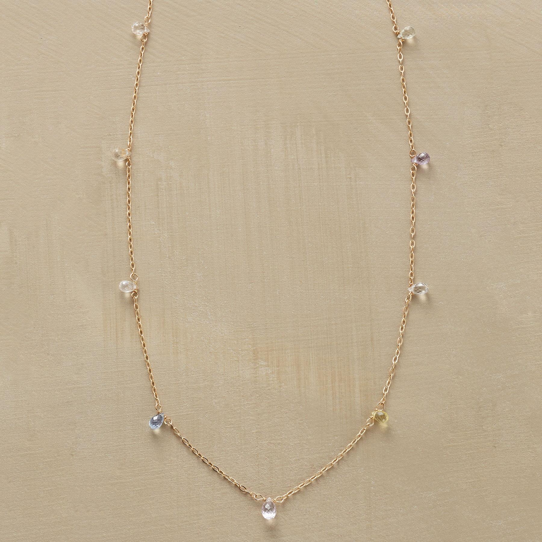 SAPPHIRE DEWDROP NECKLACE: View 1