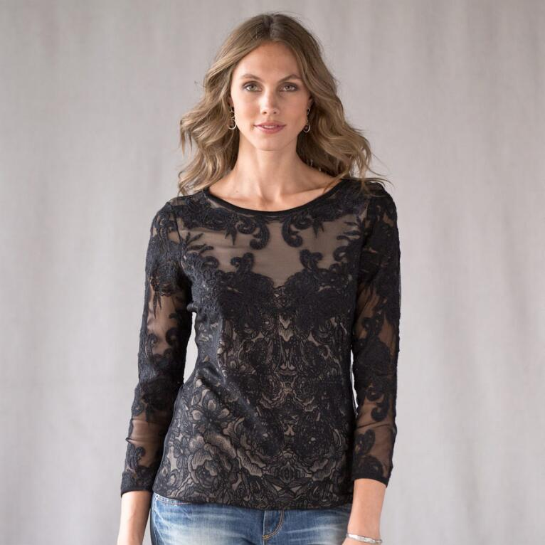 SLEIGHT OF HAND LACE TOP