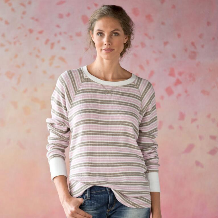 PREPPY STRIPE THERMAL TEE