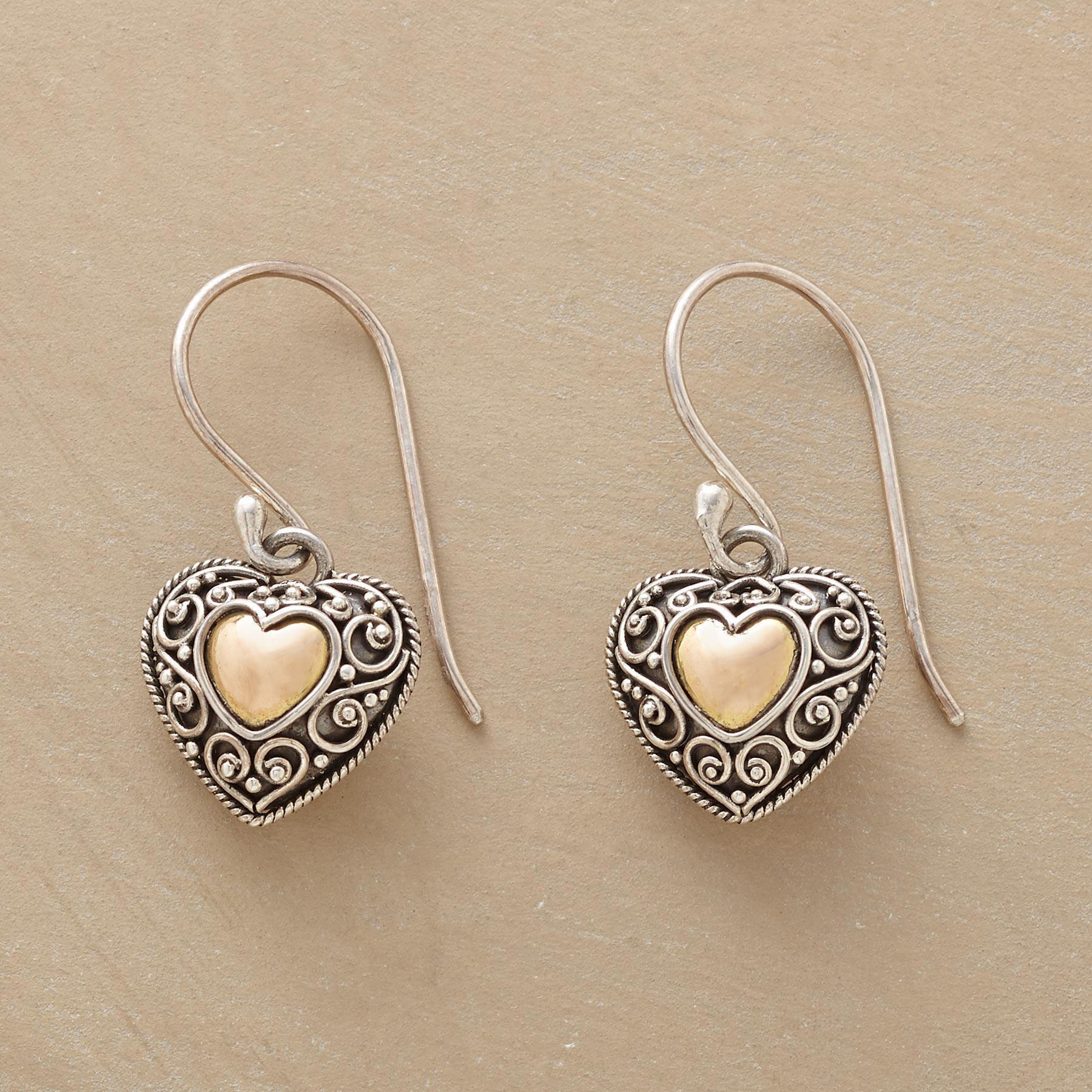FULL HEART EARRINGS  : View 1