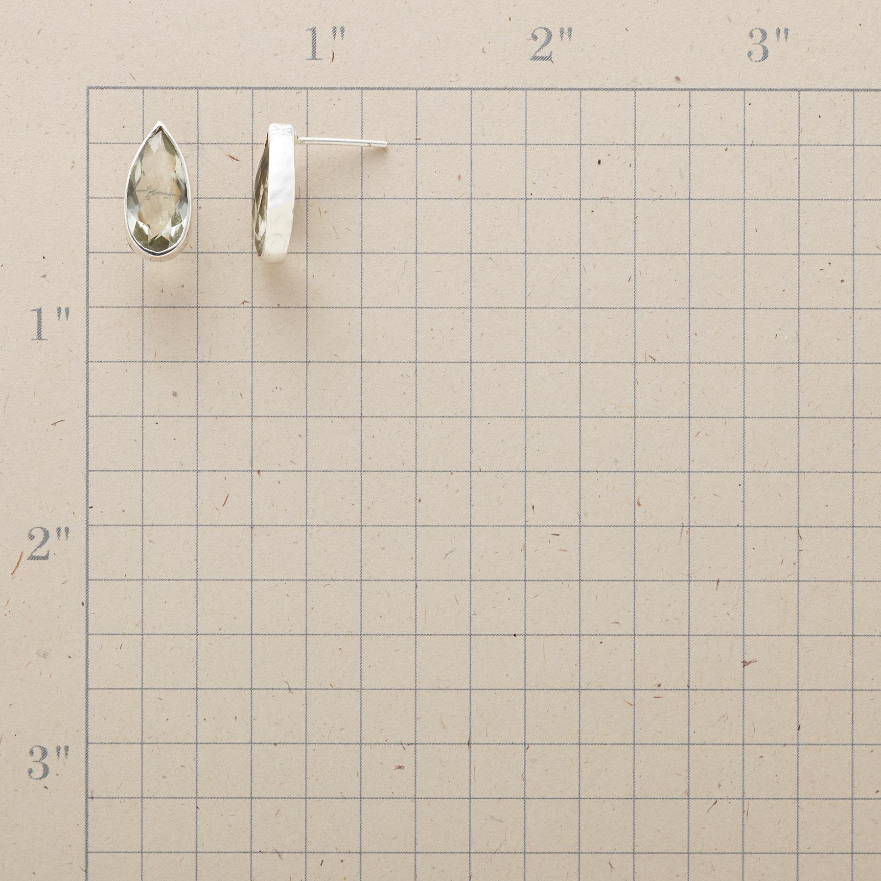 CLEAR RAIN EARRINGS: View 2