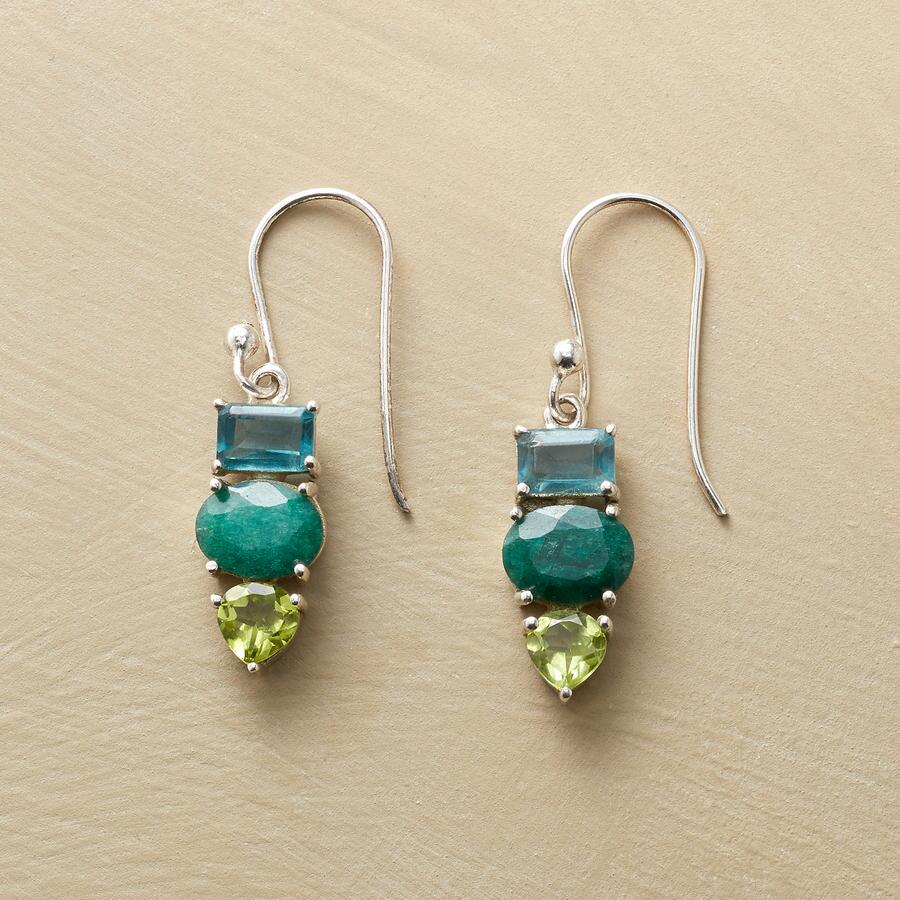 TRI-COLOR EARRINGS