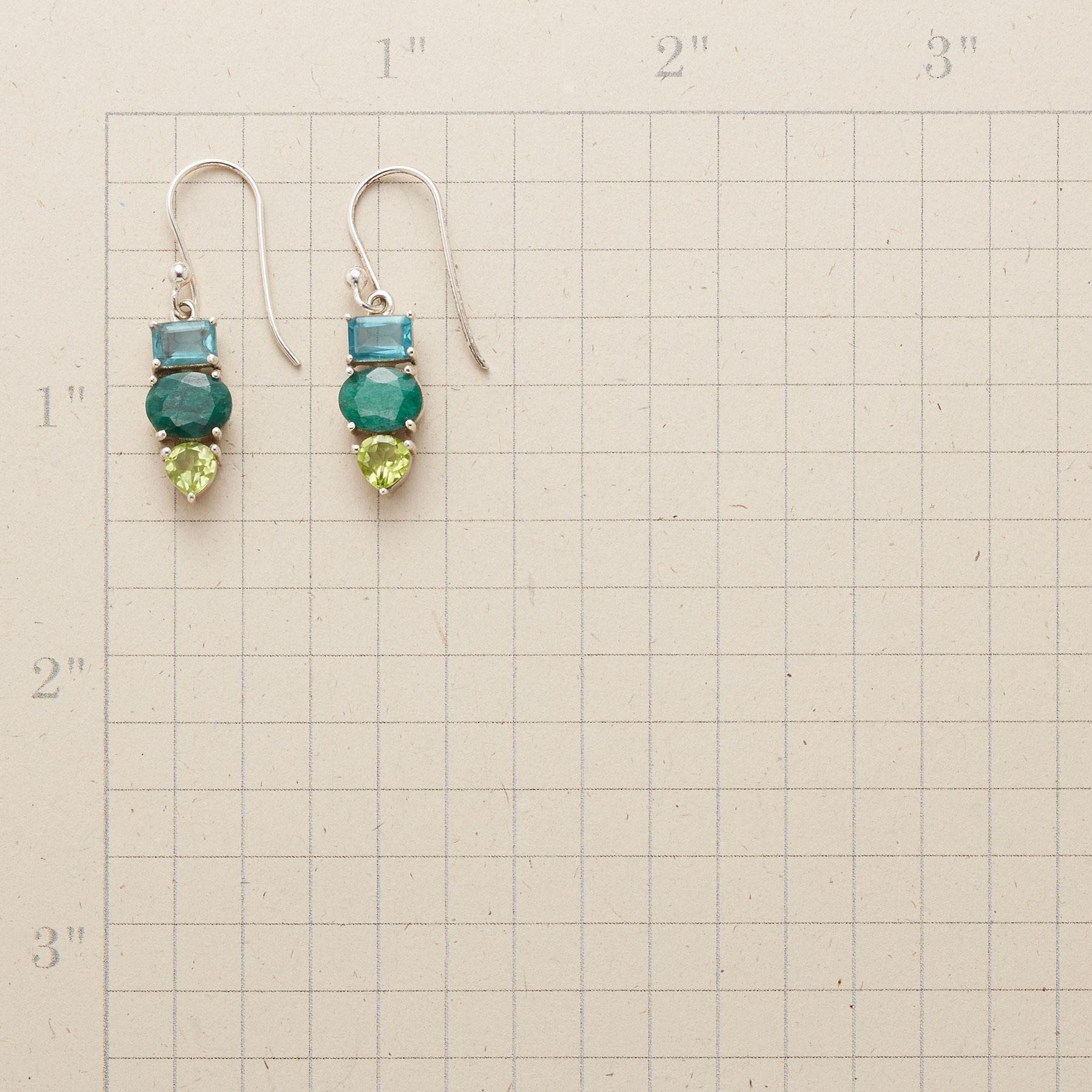 TRI-COLOR EARRINGS: View 2