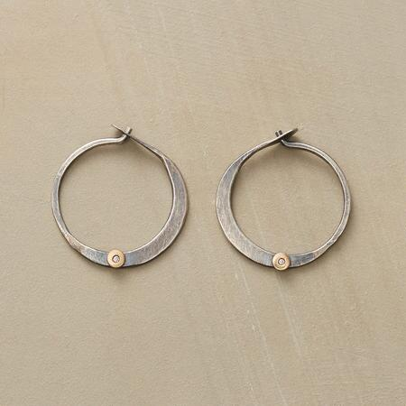 Diamond Circle Hoop Earrings By Melissa Joy Manning