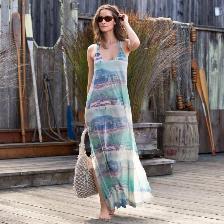 Rio Beachscape Maxi Dress