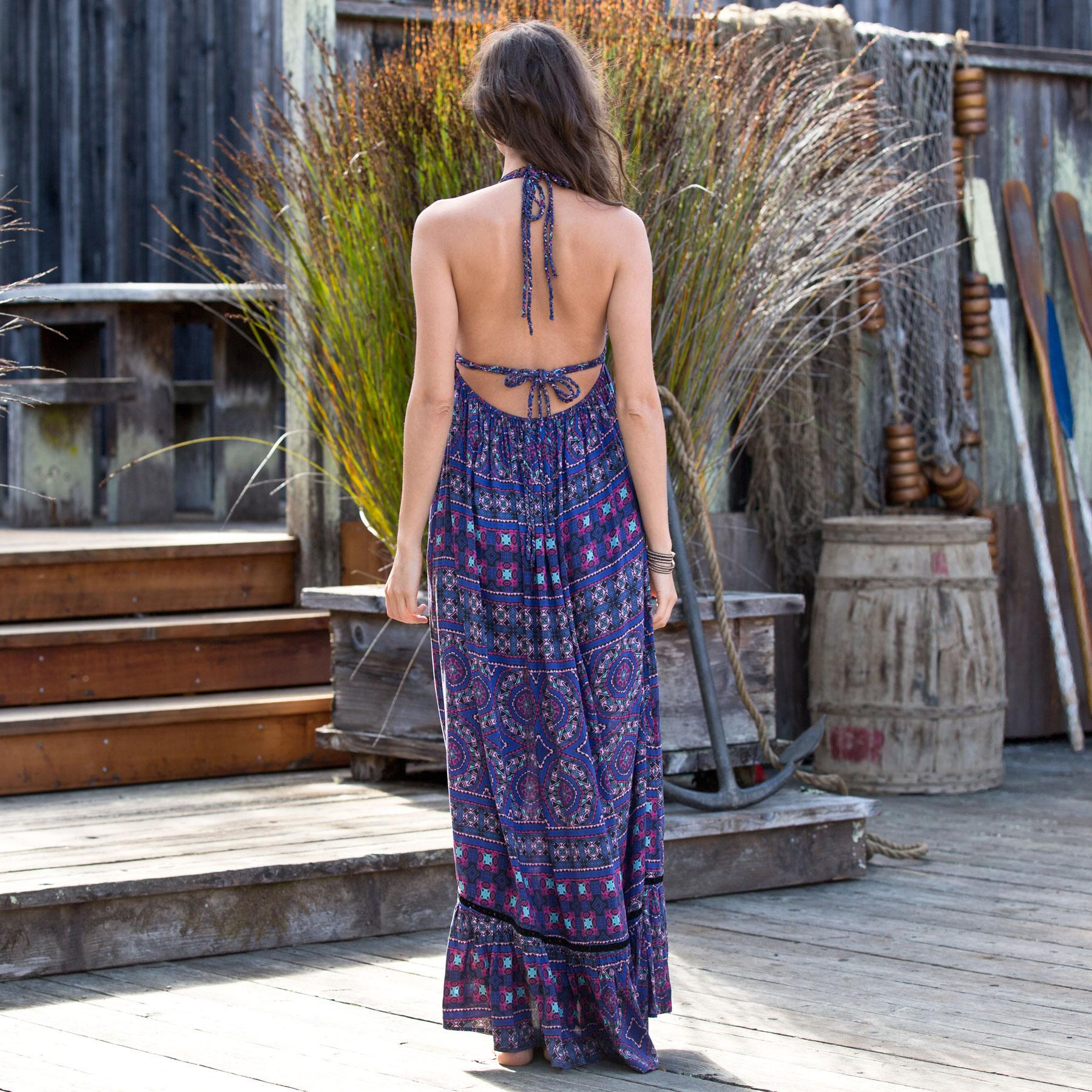 Island Mosaic Maxi Dress: View 2