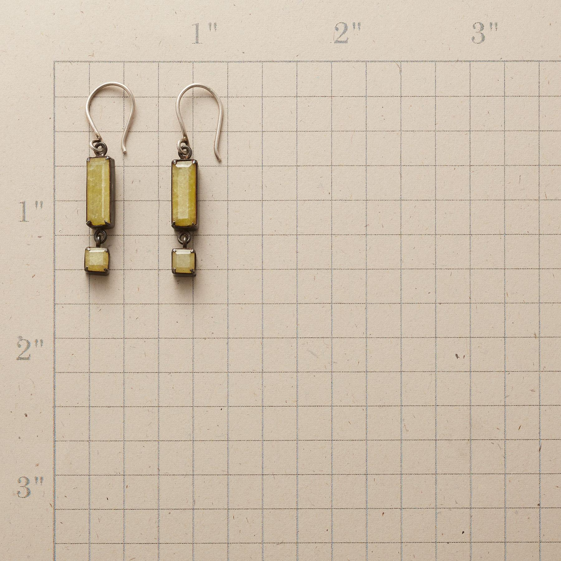 YELLOW JADE EARRINGS: View 2