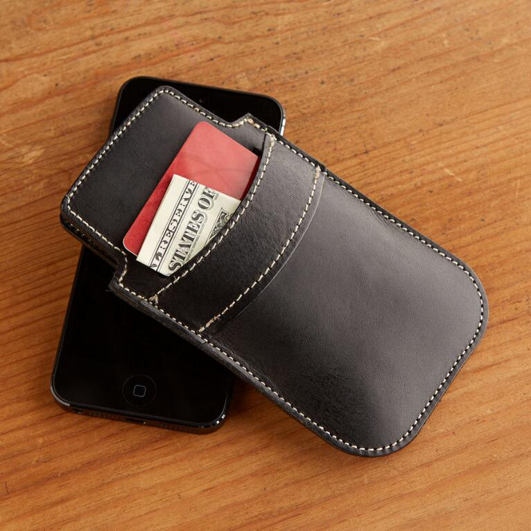 BLK LEATHER IPHONE5 SLEEVE