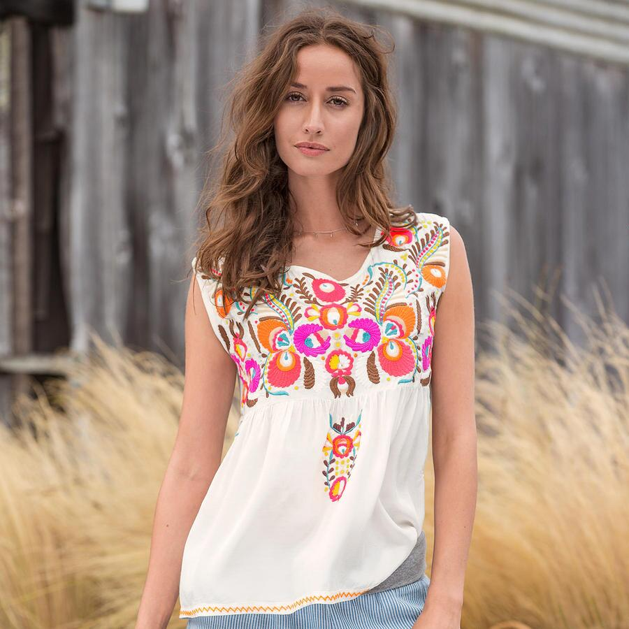 Acacia Embroidered Top