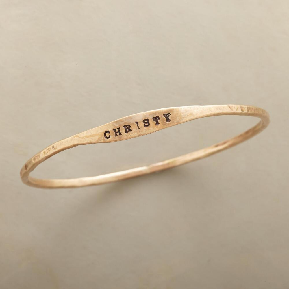 YOURS ALONE PERSONALIZED BANGLE: View 1