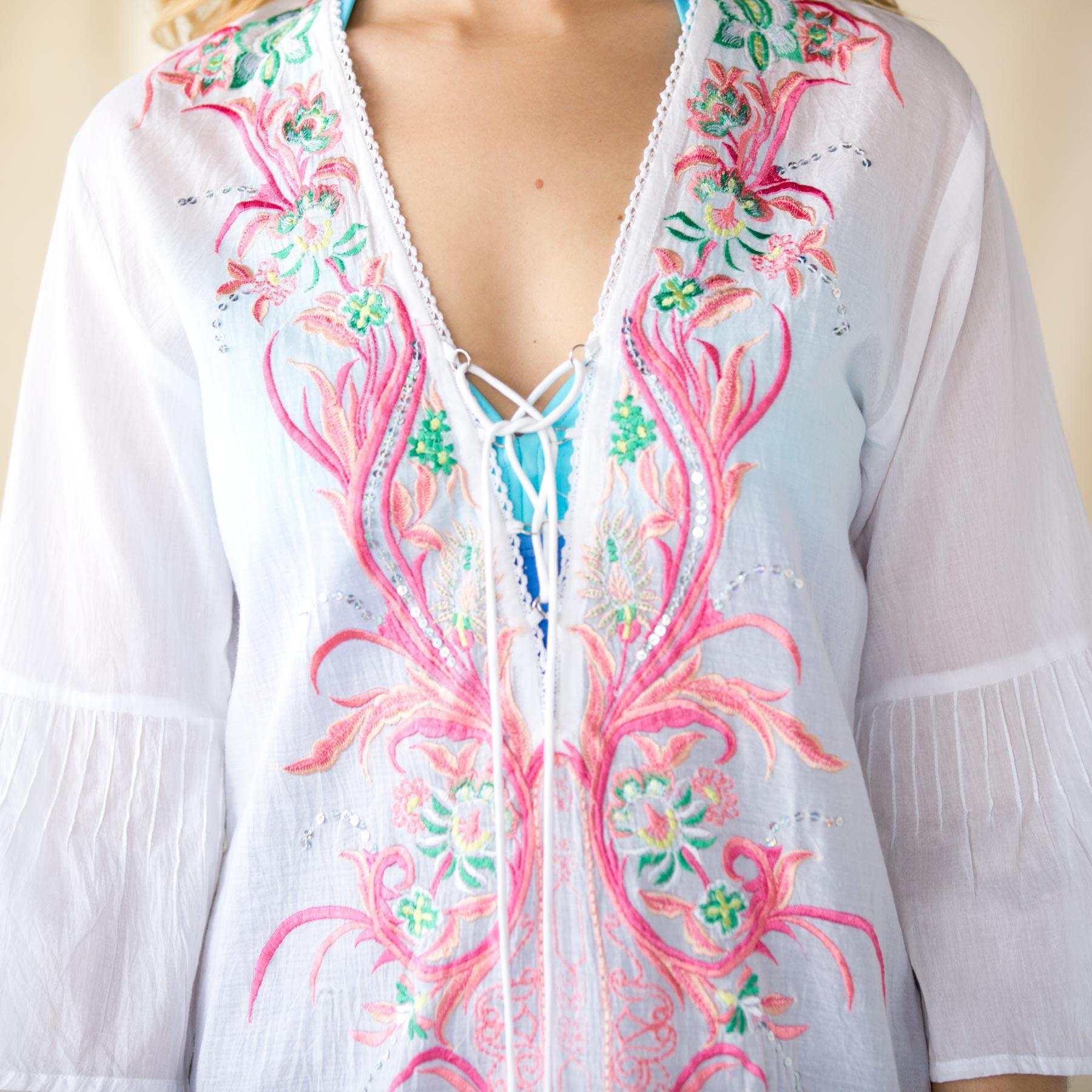 Flourishes and Flowers Tunic: View 3