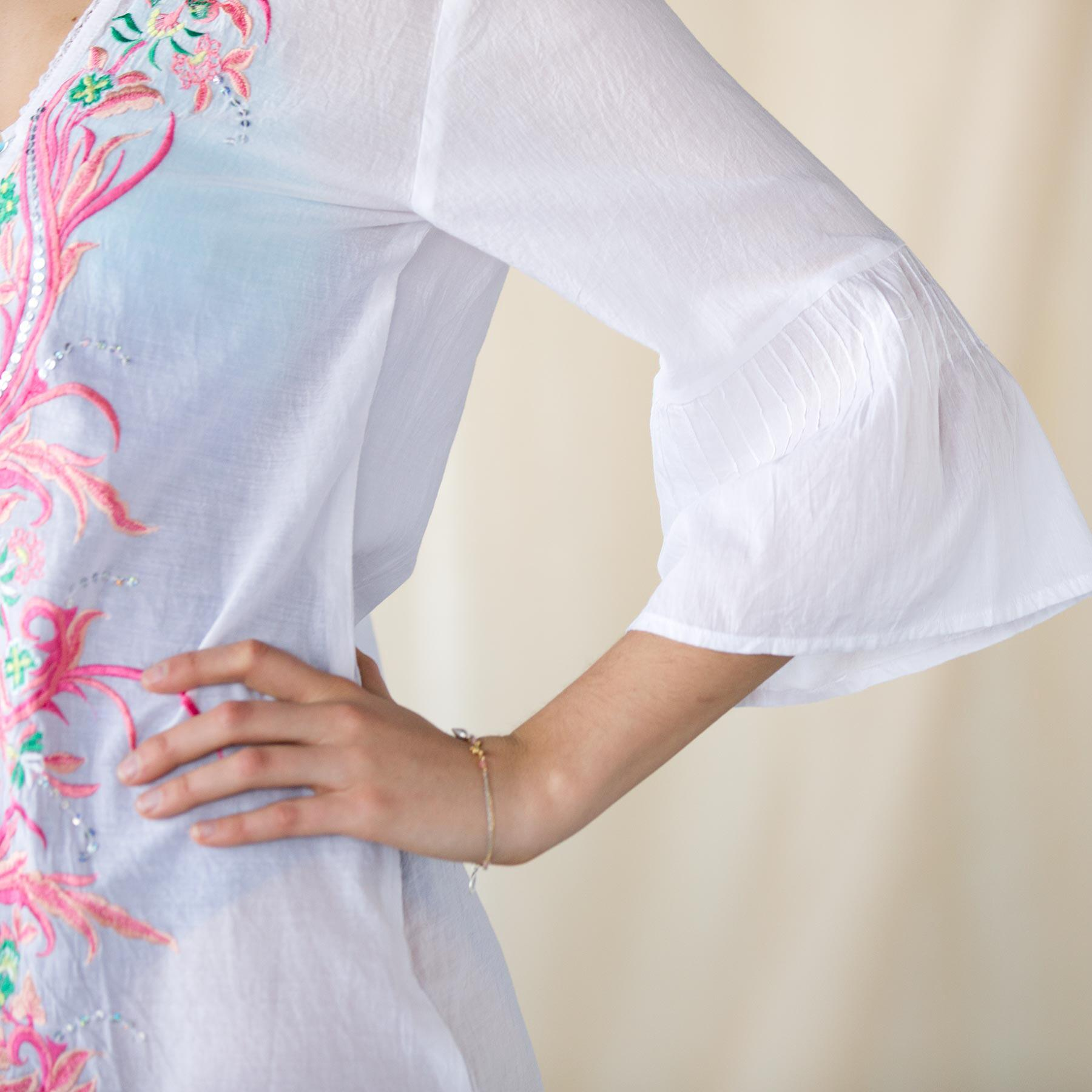 Flourishes and Flowers Tunic: View 4