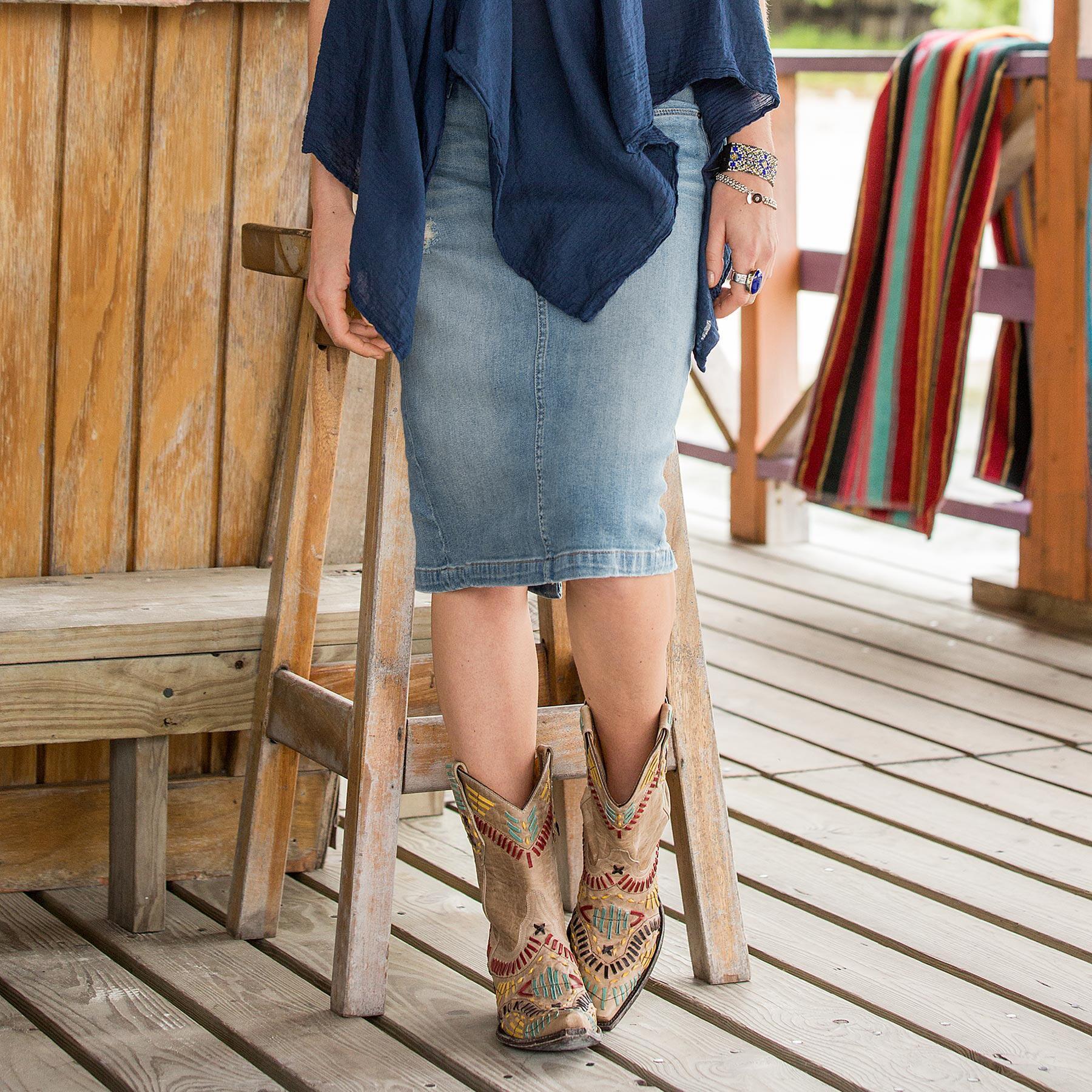 Daily Rounds Denim Skirt: View 1