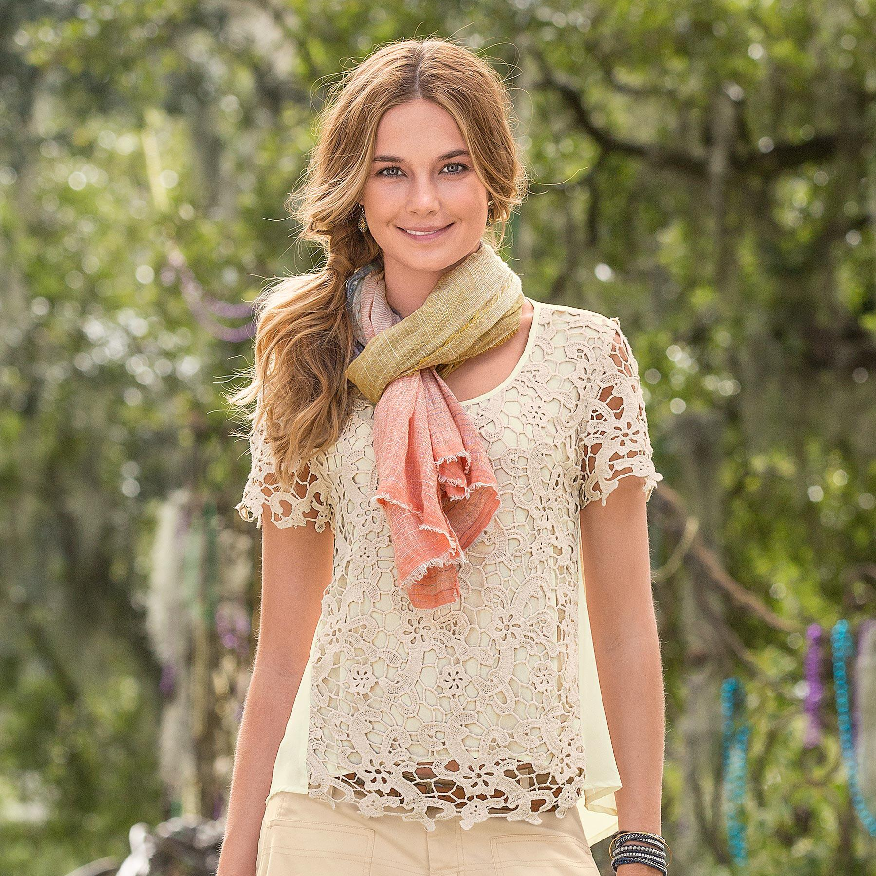 Filigree Lace Top: View 1