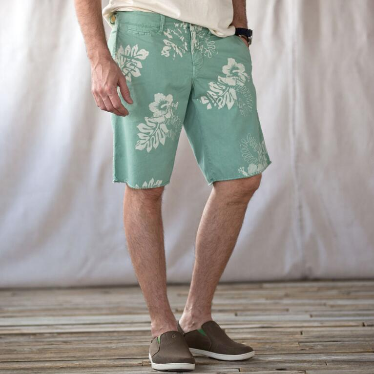 ST. BARTS HIBISCUS PINWALE SHORTS