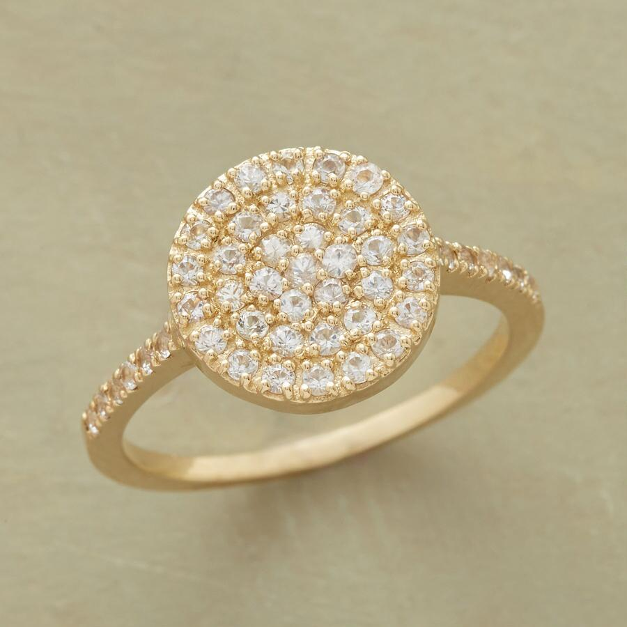 SEARCHLIGHT WHITE SAPPHIRE RING