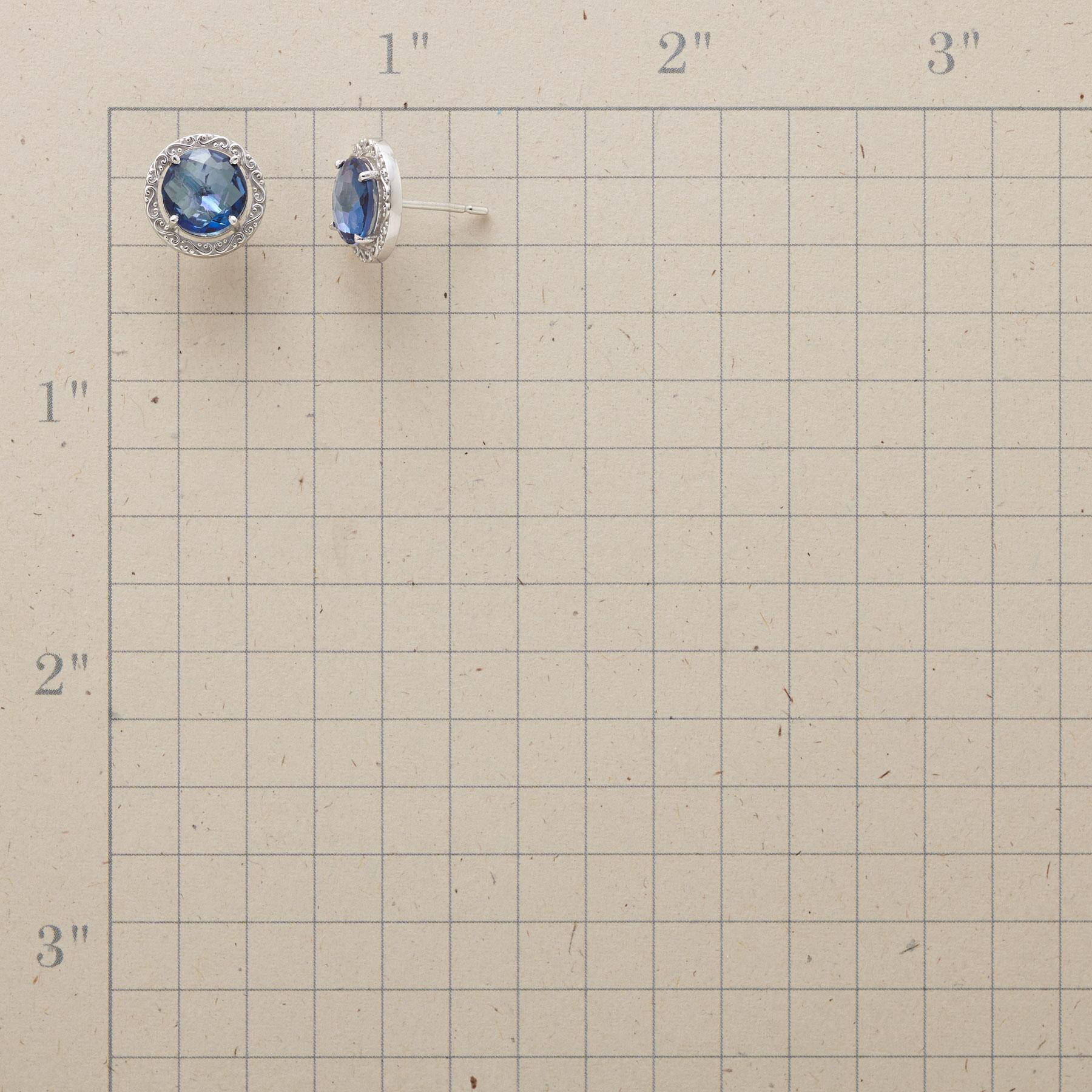 WREATHED BLUE TOPAZ EARRINGS: View 2