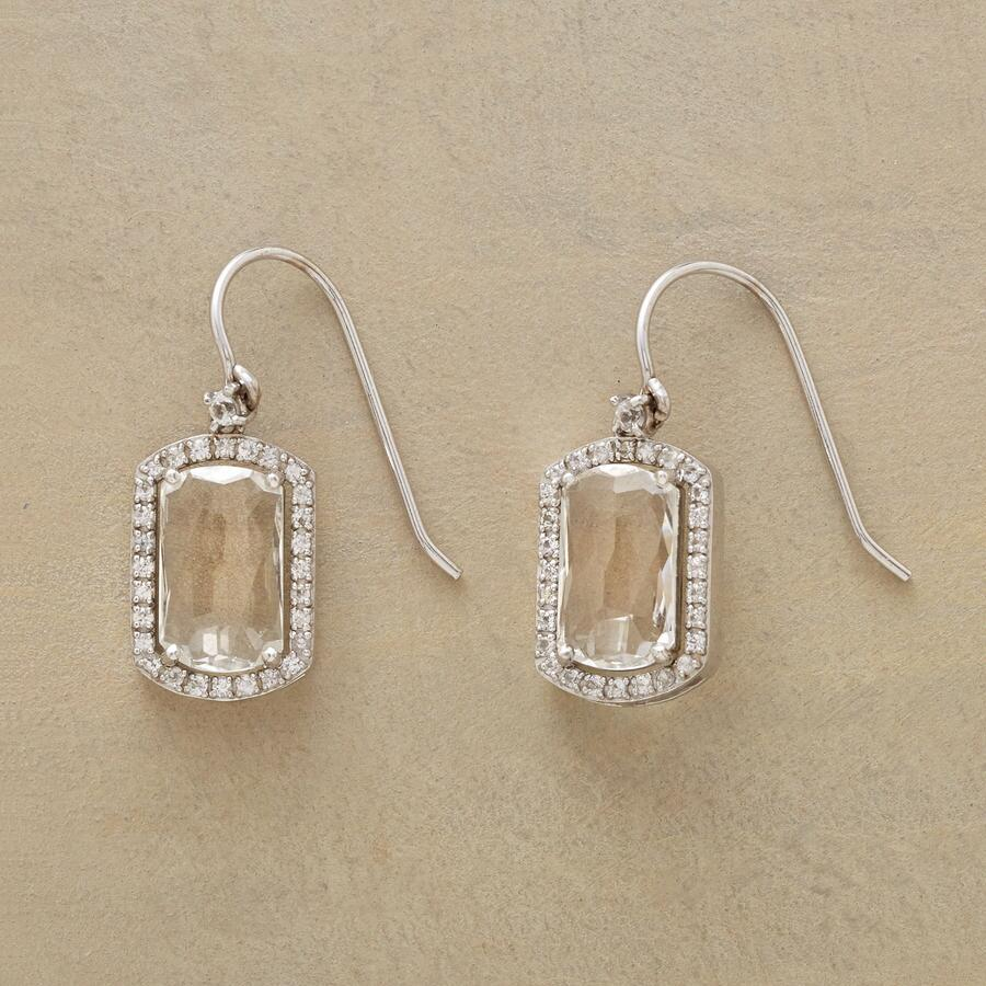 WONDERLAND WHITE TOPAZ EARRINGS