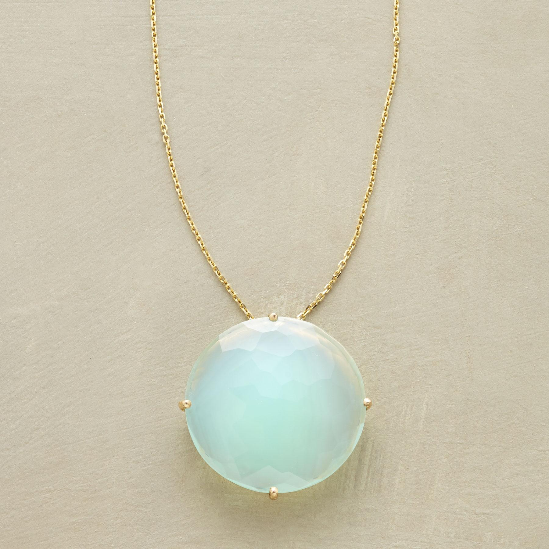 FLOATING CHALCEDONY NECKLACE: View 1