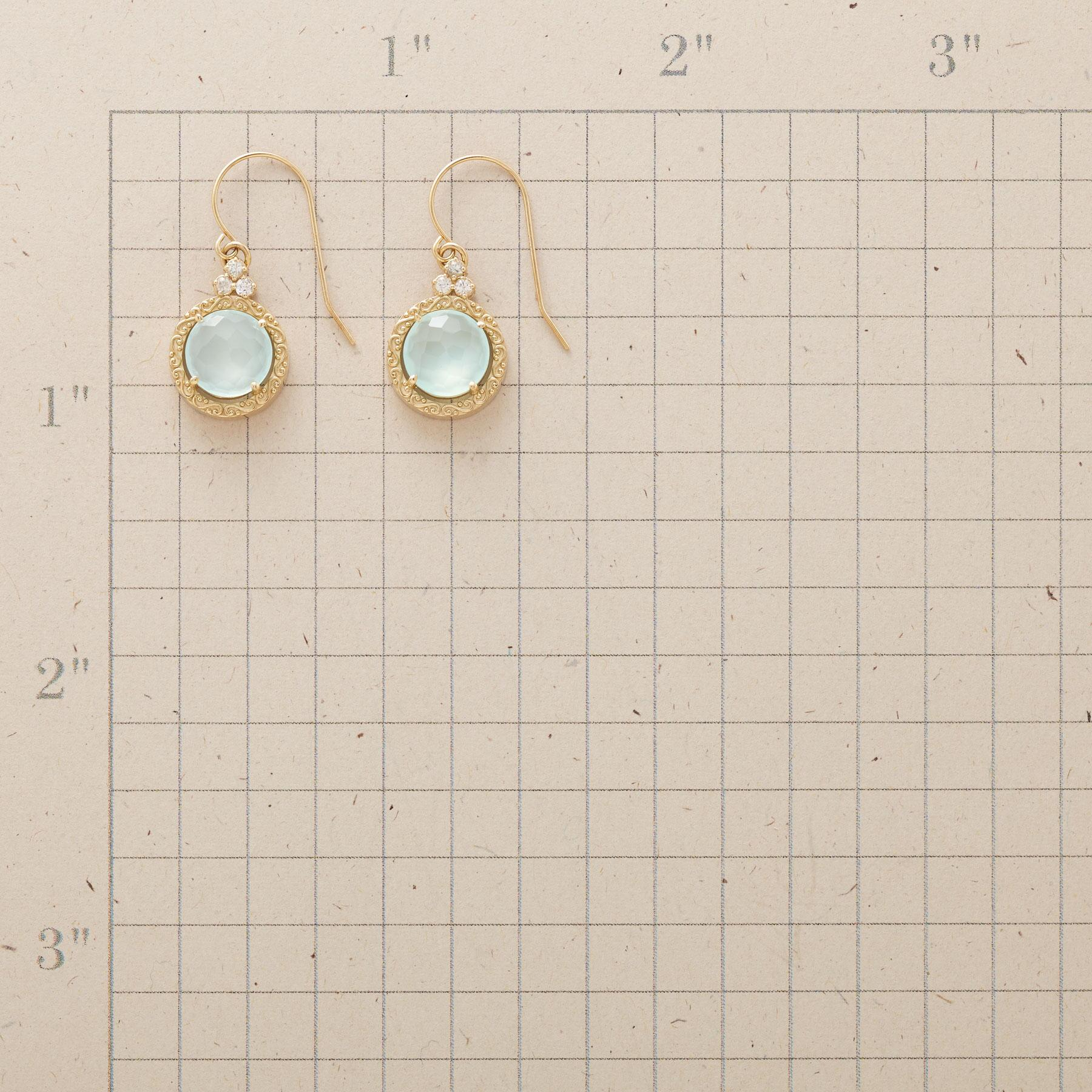 SCROLLED CHALCEDONY EARRINGS: View 2