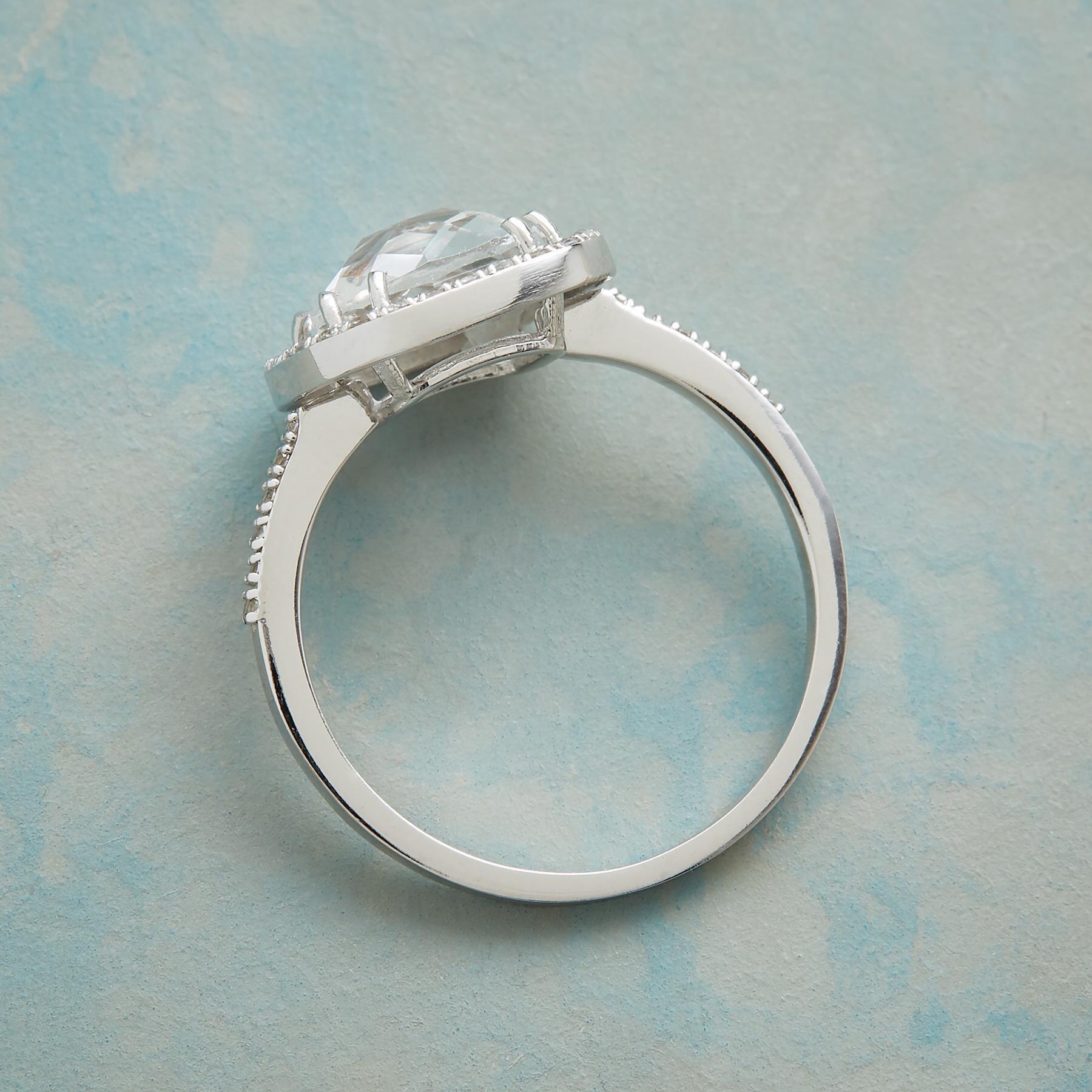 HARLEQUIN WHITE TOPAZ RING: View 2