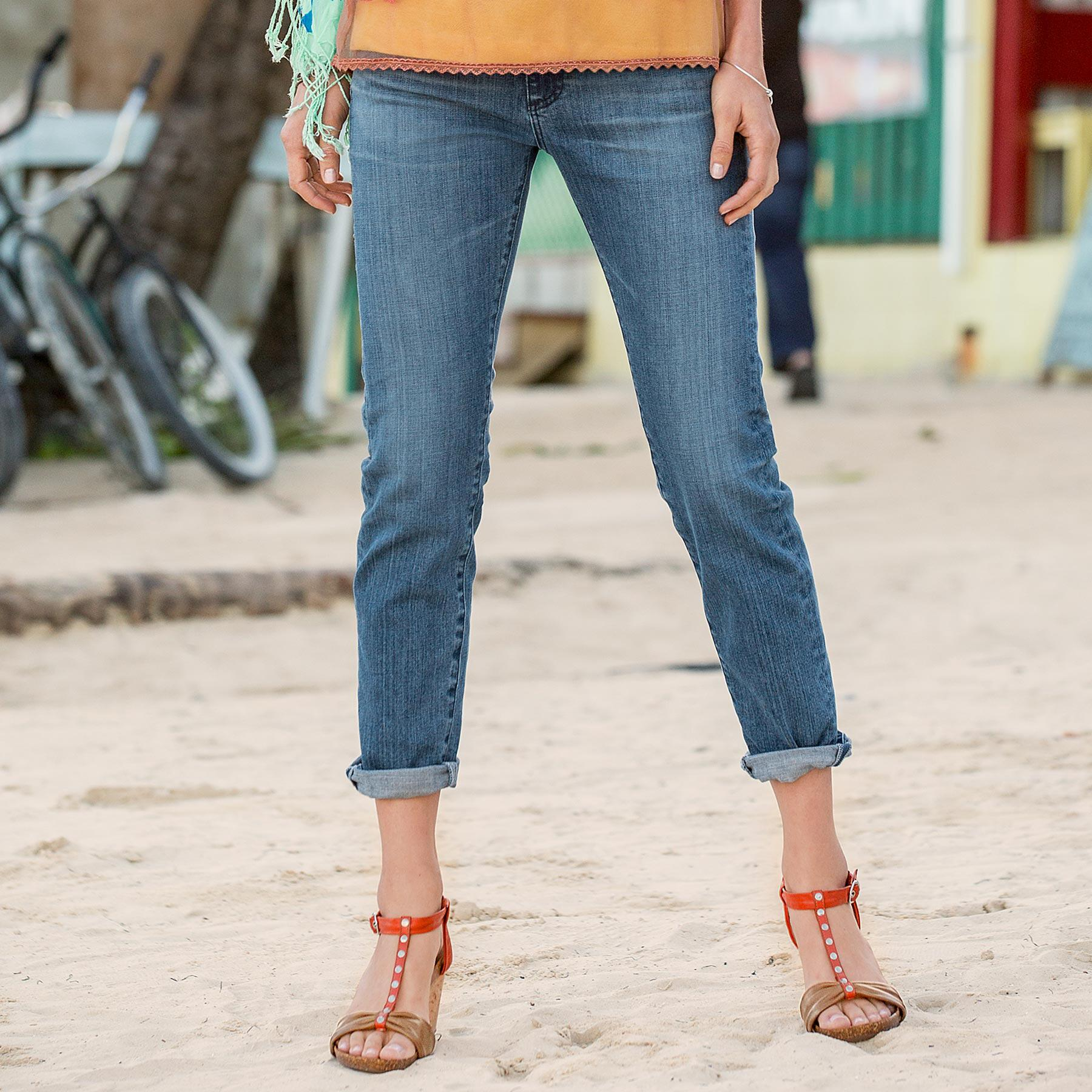 PIPER CROPPED JEANS: View 1