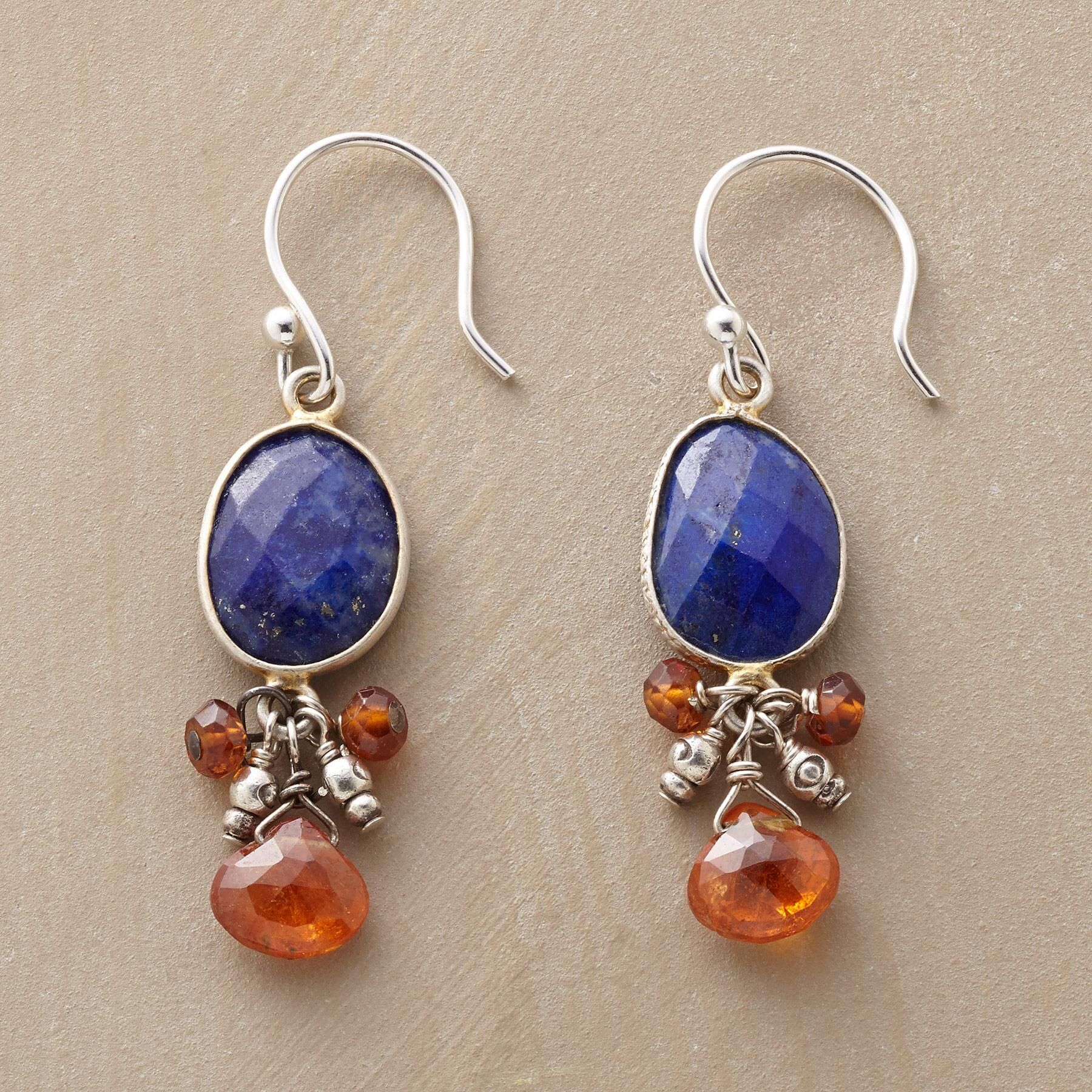 LAPIS PENDULUM EARRINGS: View 1