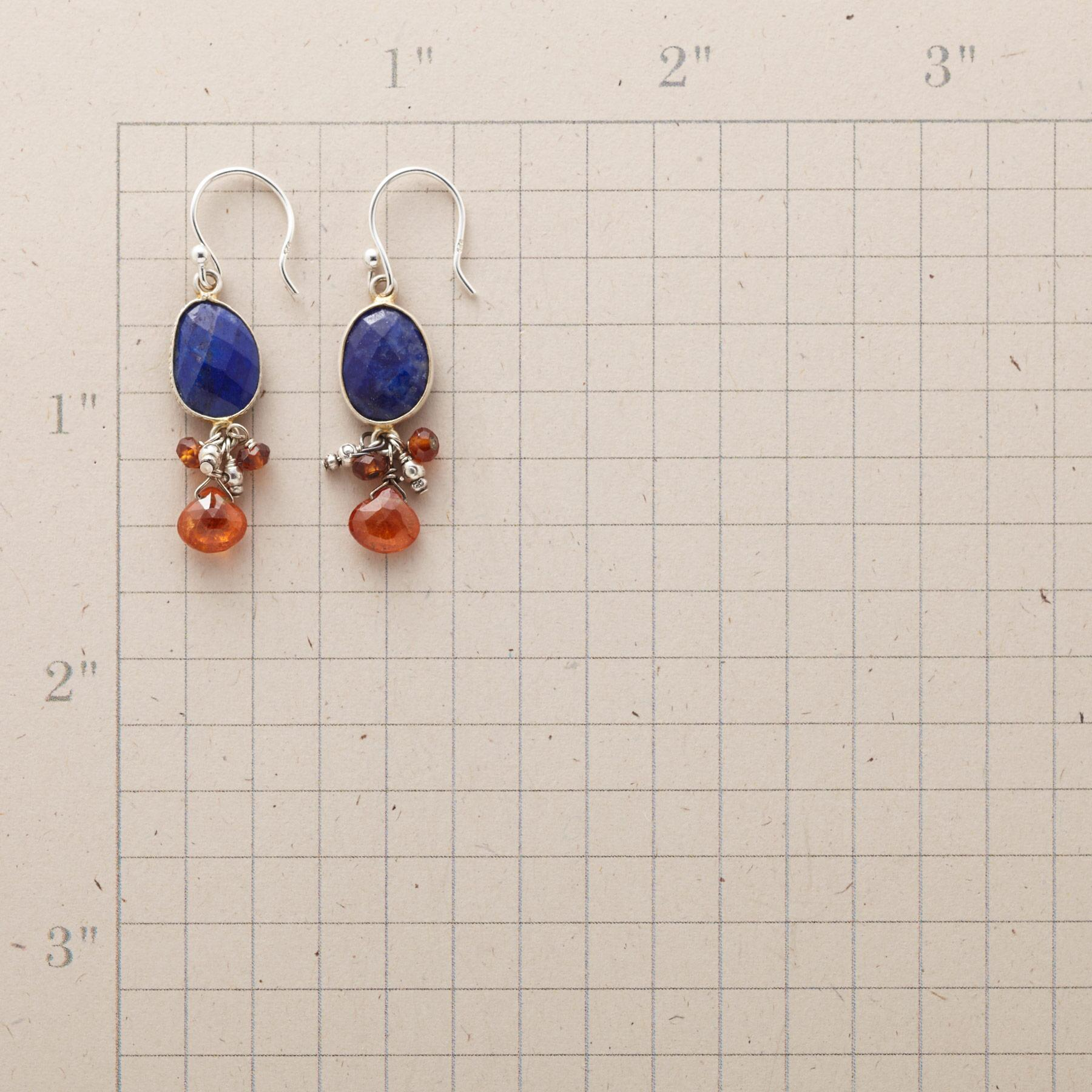 LAPIS PENDULUM EARRINGS: View 2