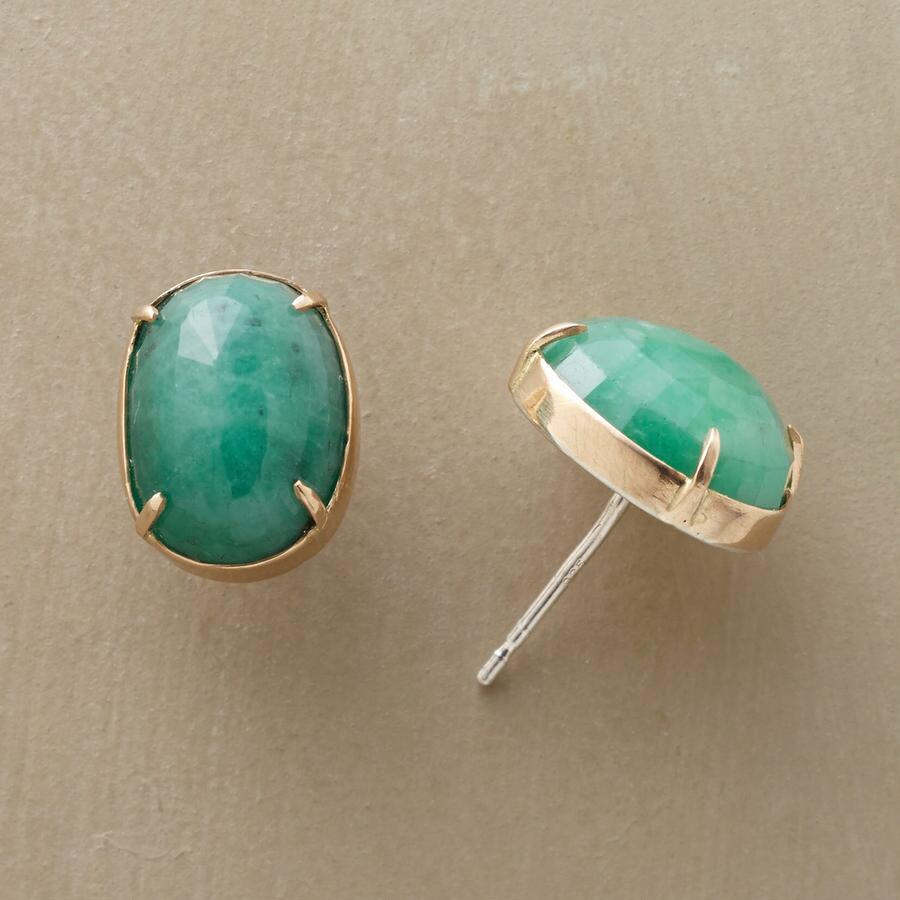 ORGANIC SPLENDOR EMERALD EARRINGS