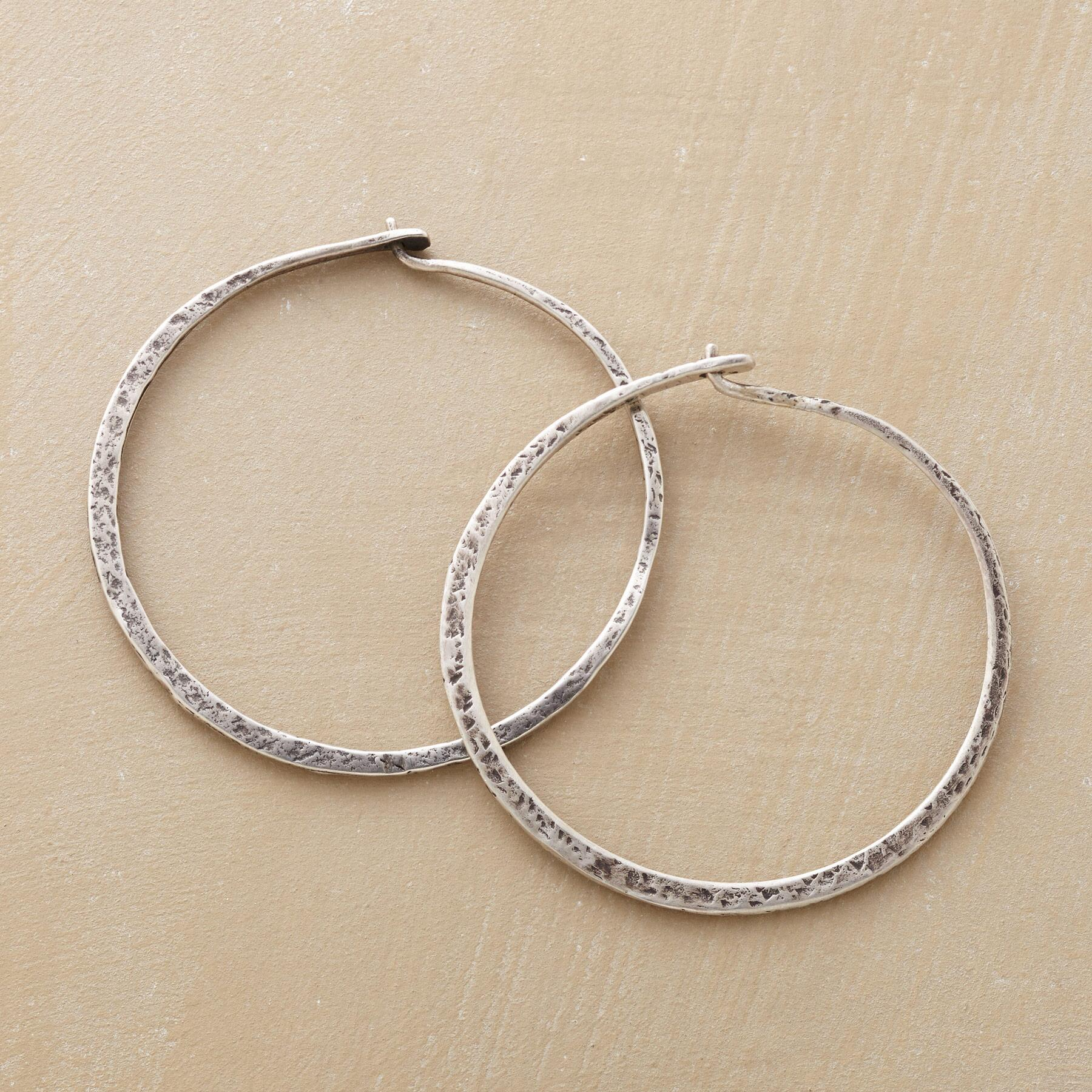 SUBTLY TEXTURED HOOPS: View 1