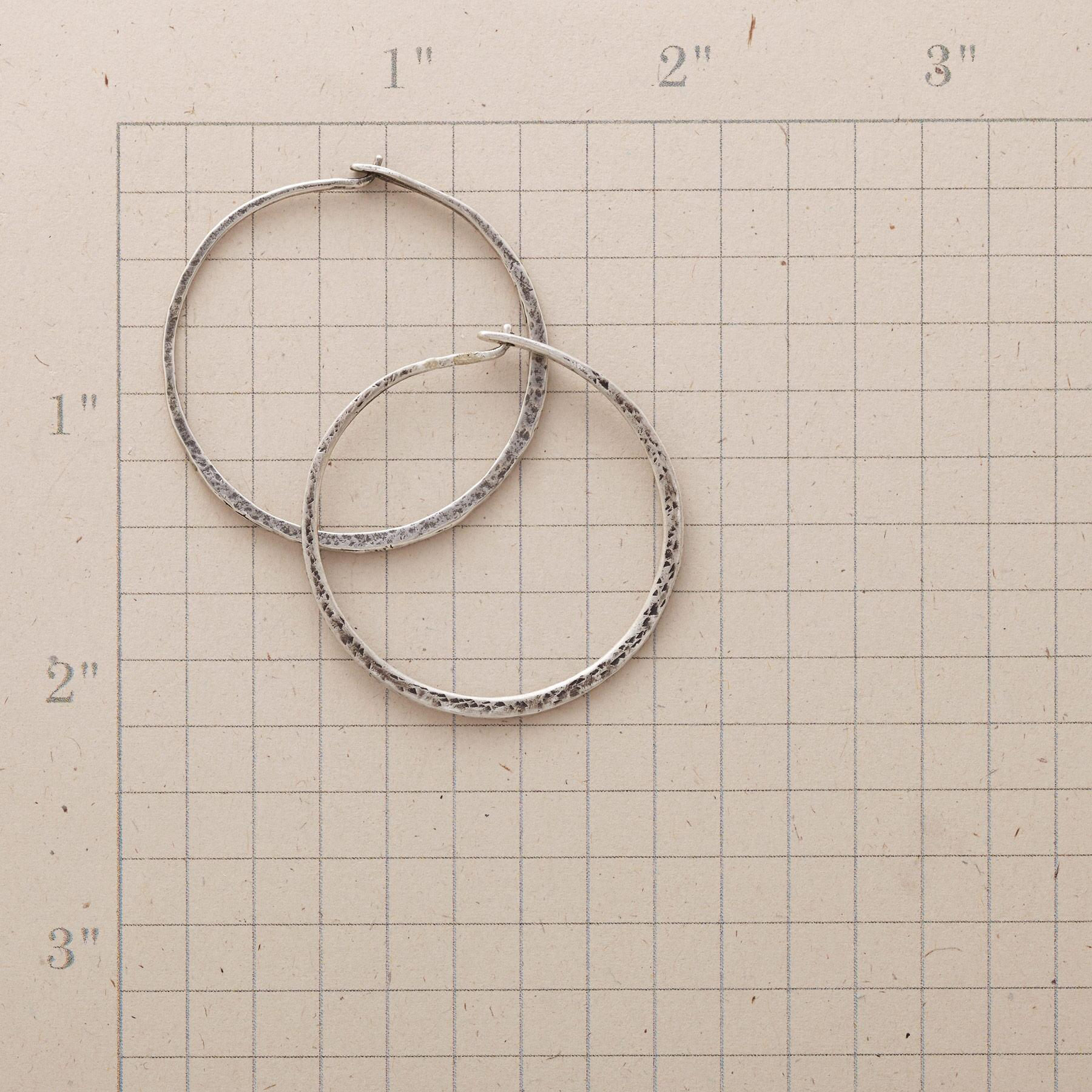 SUBTLY TEXTURED HOOPS: View 2