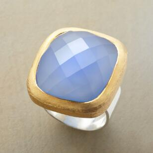 CHECKERBOARD CHALCEDONY RING
