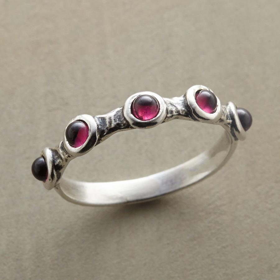Red In A Row Ring