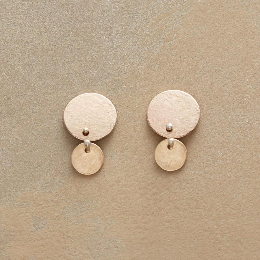 DOUBLE DISKS EARRINGS