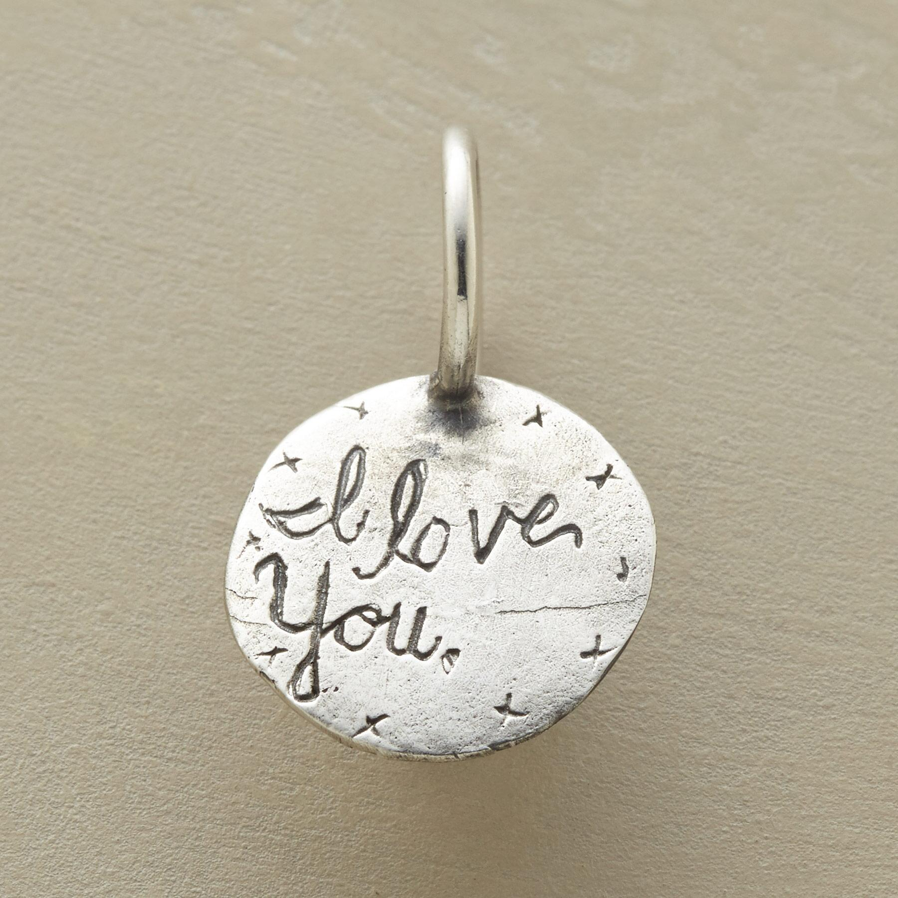 STERLING SILVER I LOVE YOU MOM CHARM: View 2
