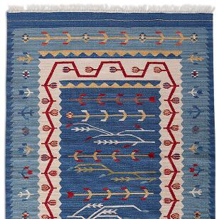 DAKOTA SKIES DHURRIE RUG, LARGE