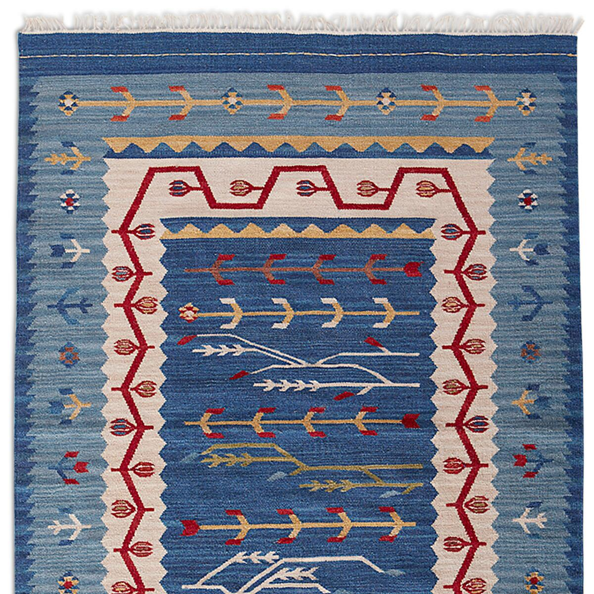 DAKOTA SKIES DHURRIE RUG, LARGE: View 1