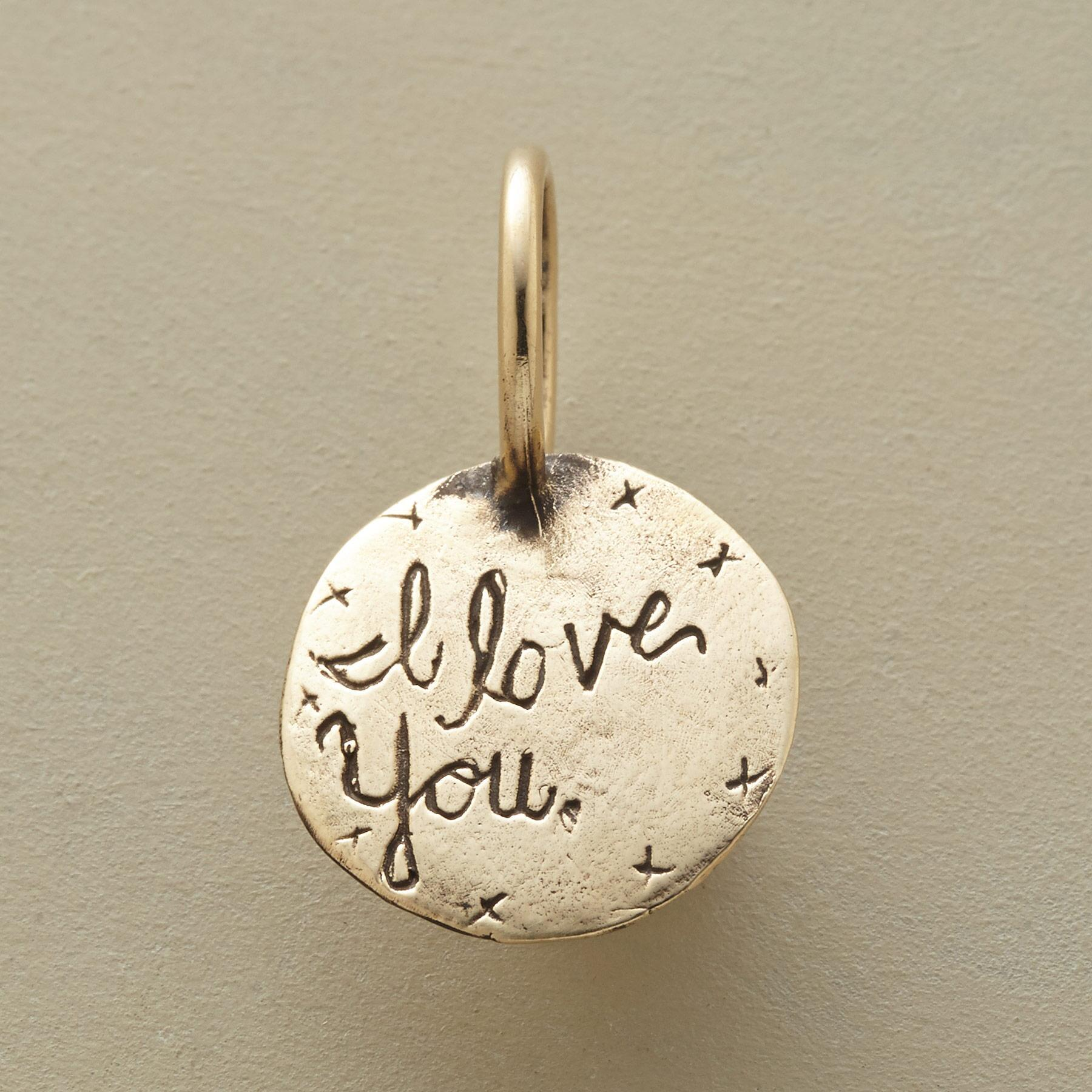 GOLD I LOVE YOU MOM CHARM: View 2