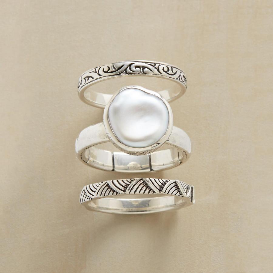 PEARL & PALS RINGS S/3