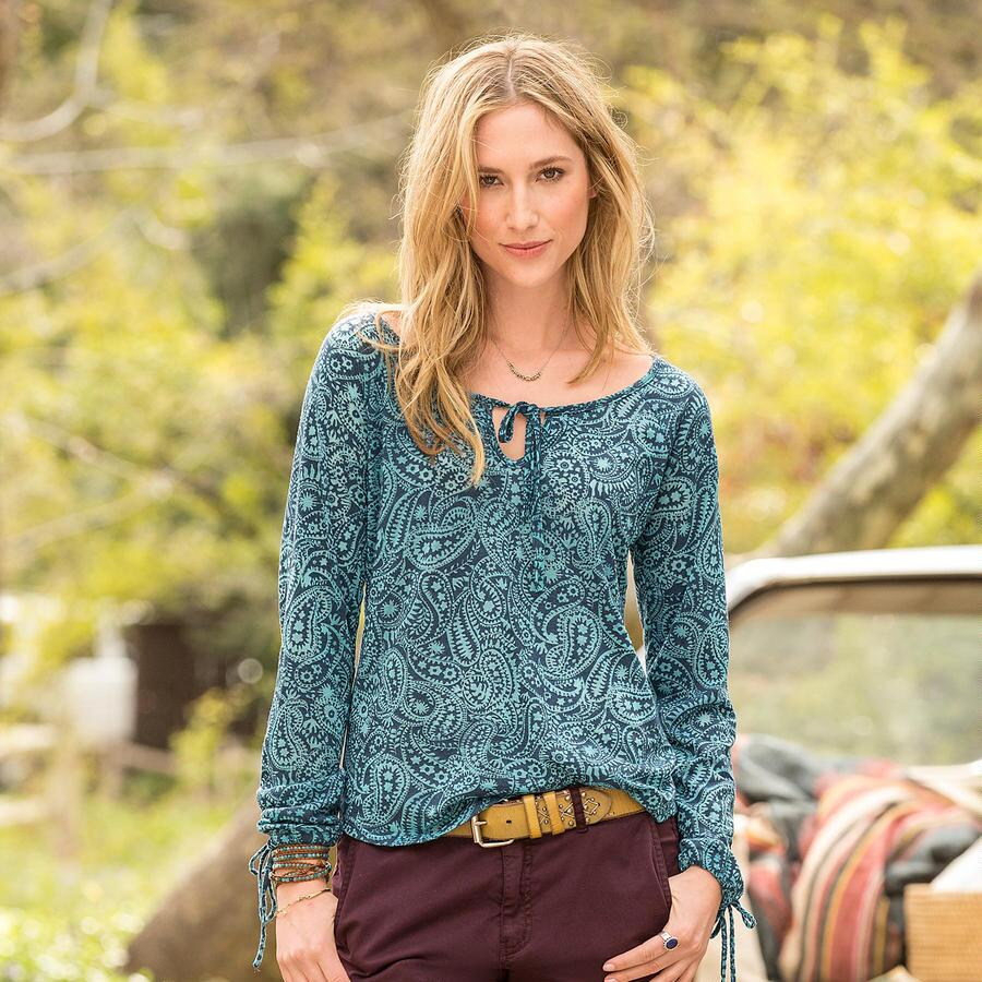 TWILIGHT PAISLEY TOP