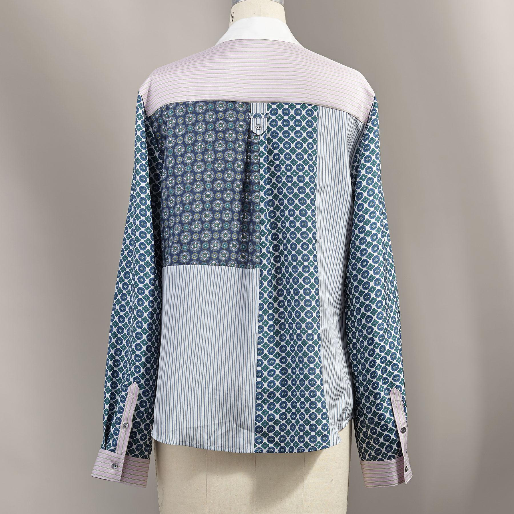 PATCHED FOULARD SHIRT: View 2