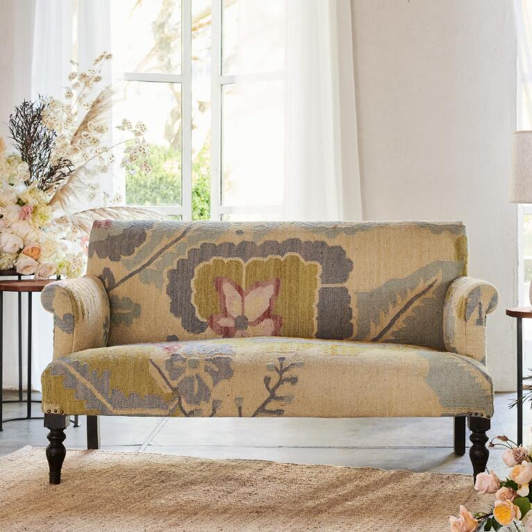 PASSION FLOWER LOVESEAT
