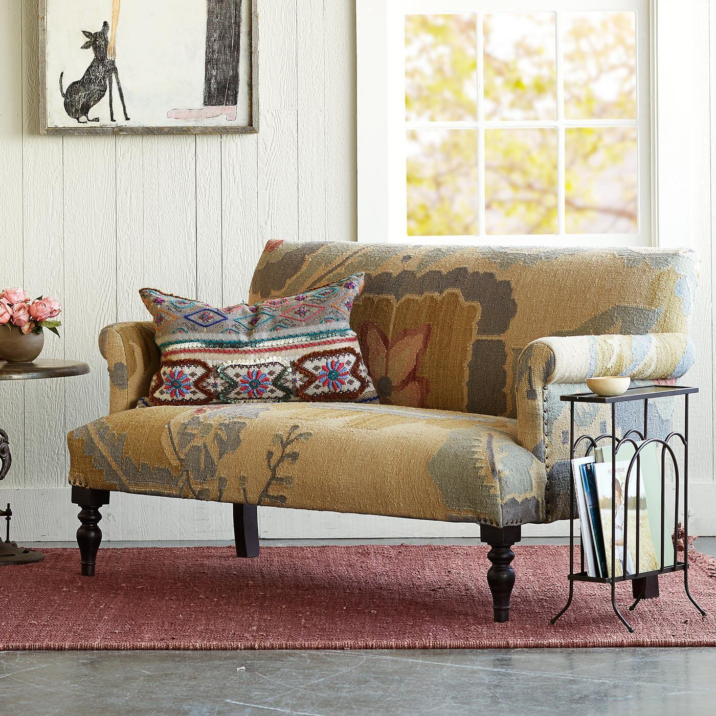 PASSION FLOWER KILIM LOVESEAT: View 4