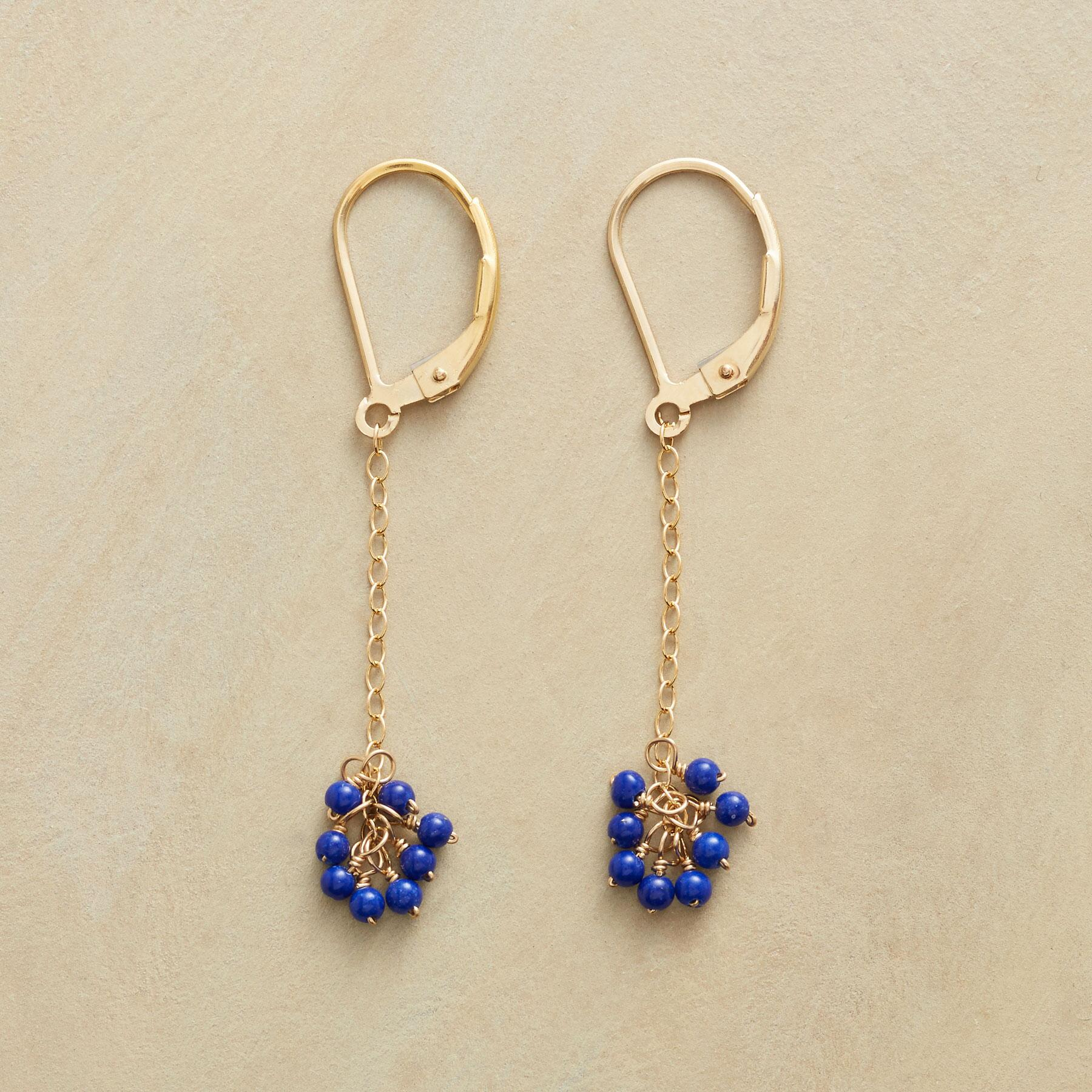 BLUE BELLE EARRINGS: View 1