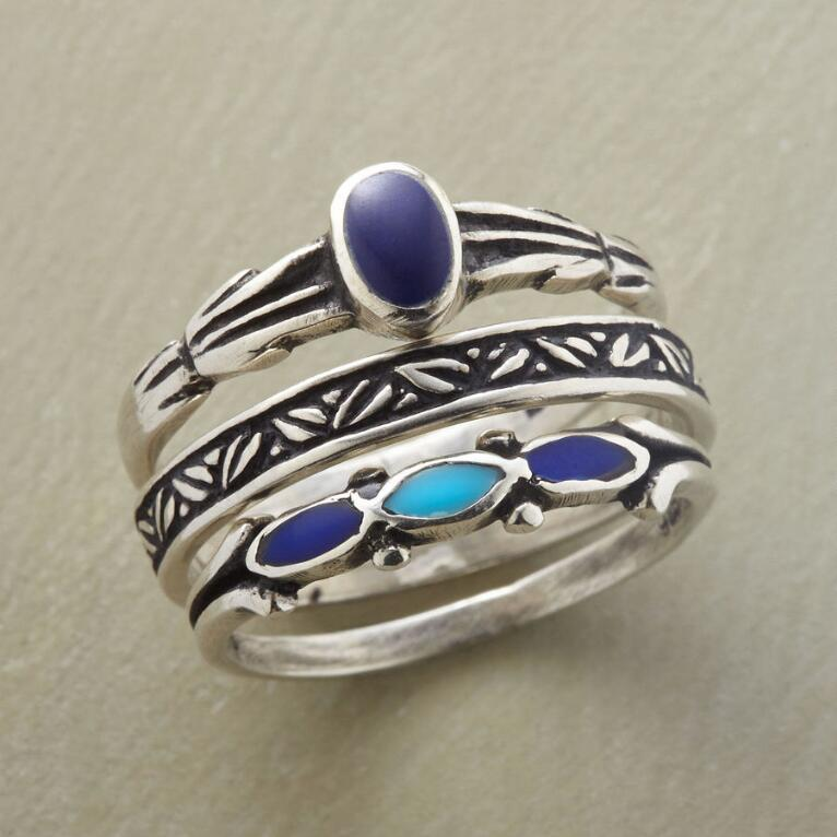 MIDNIGHT GARDEN RING TRIO