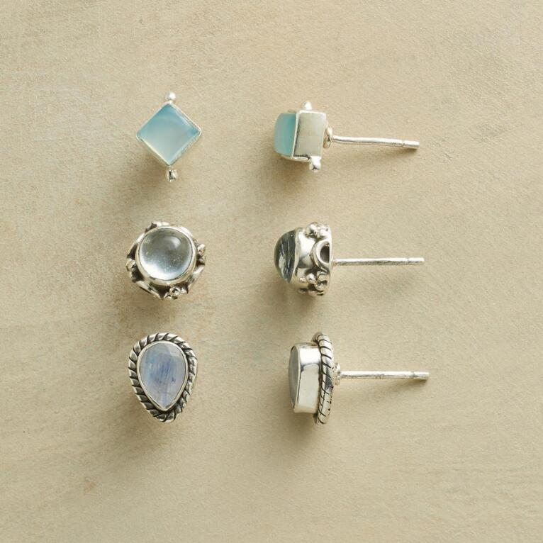 FANCIFUL FRAMED EARRING TRIO