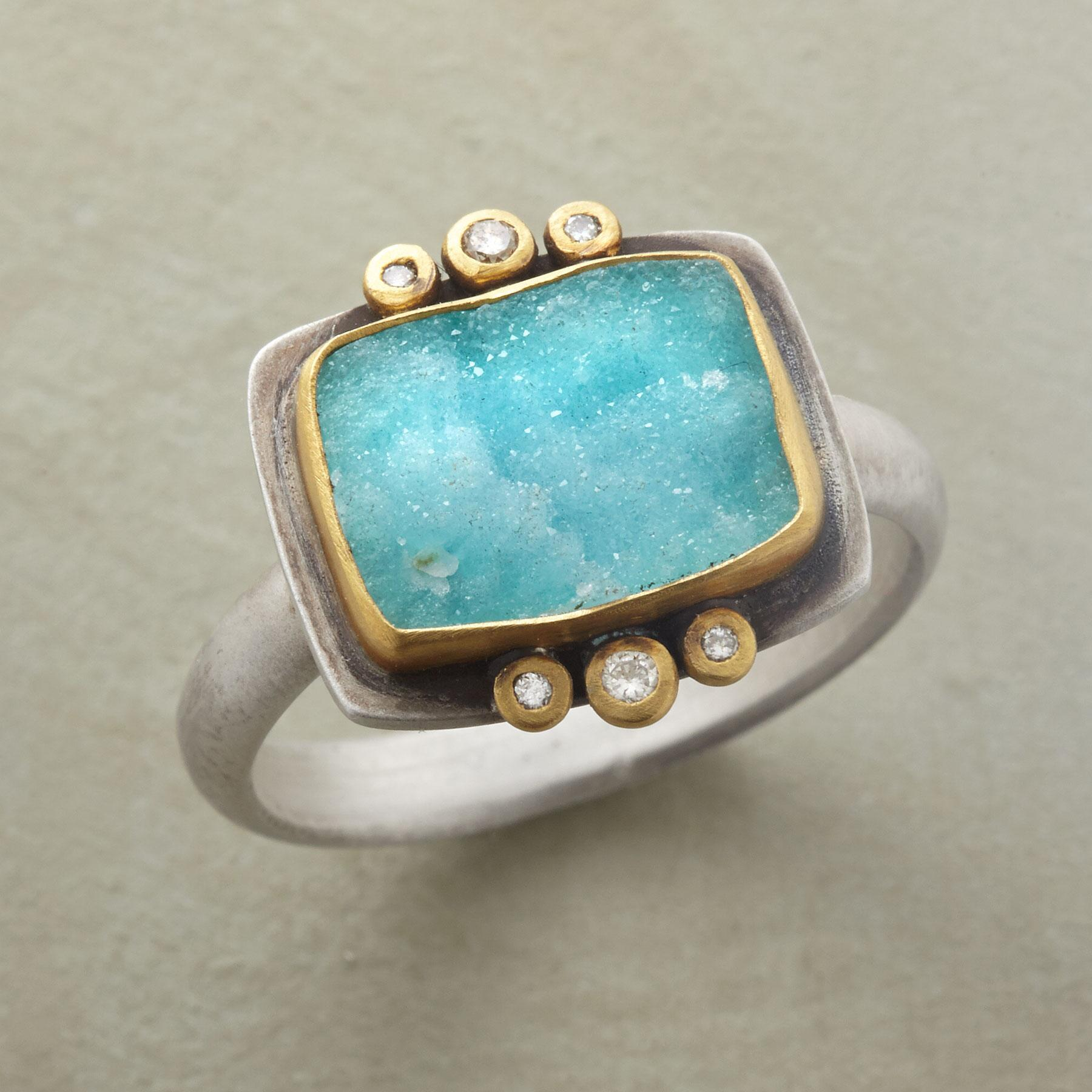 UNIQUELY CHRYSOCOLLA RING: View 1