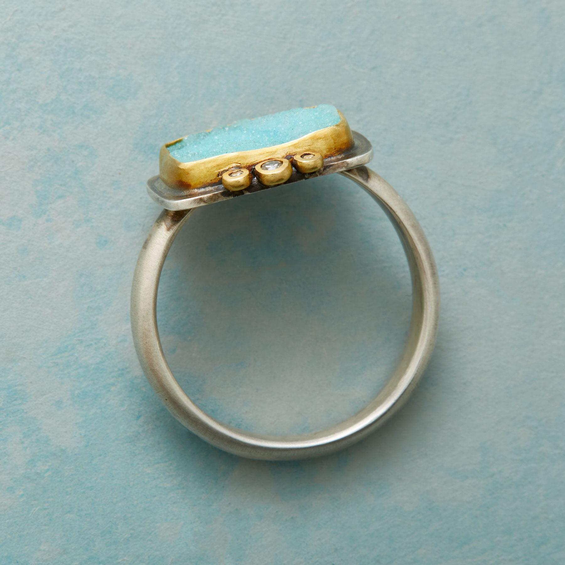 UNIQUELY CHRYSOCOLLA RING: View 2