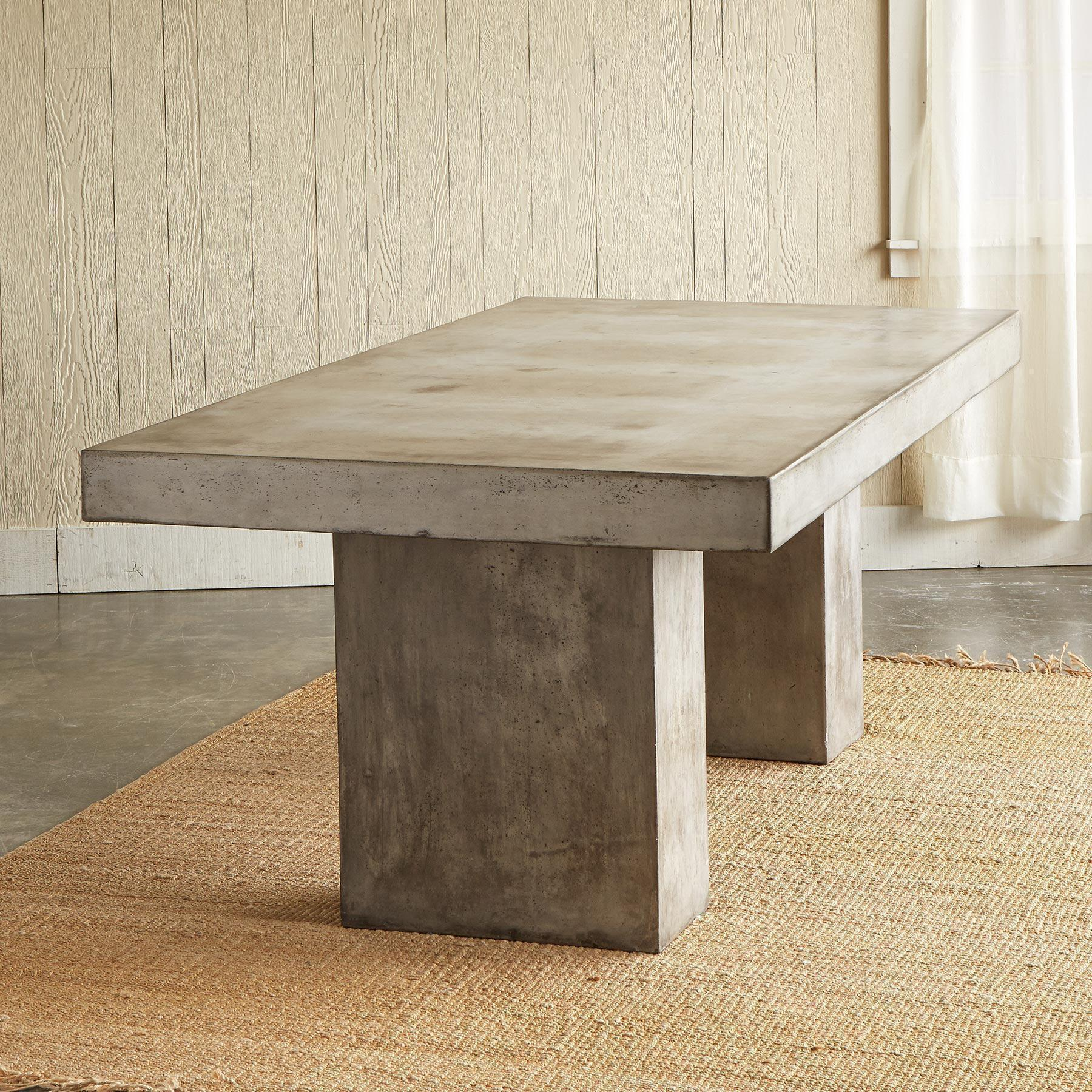 GRAVITAS CEMENT DINING TABLE 7': View 2