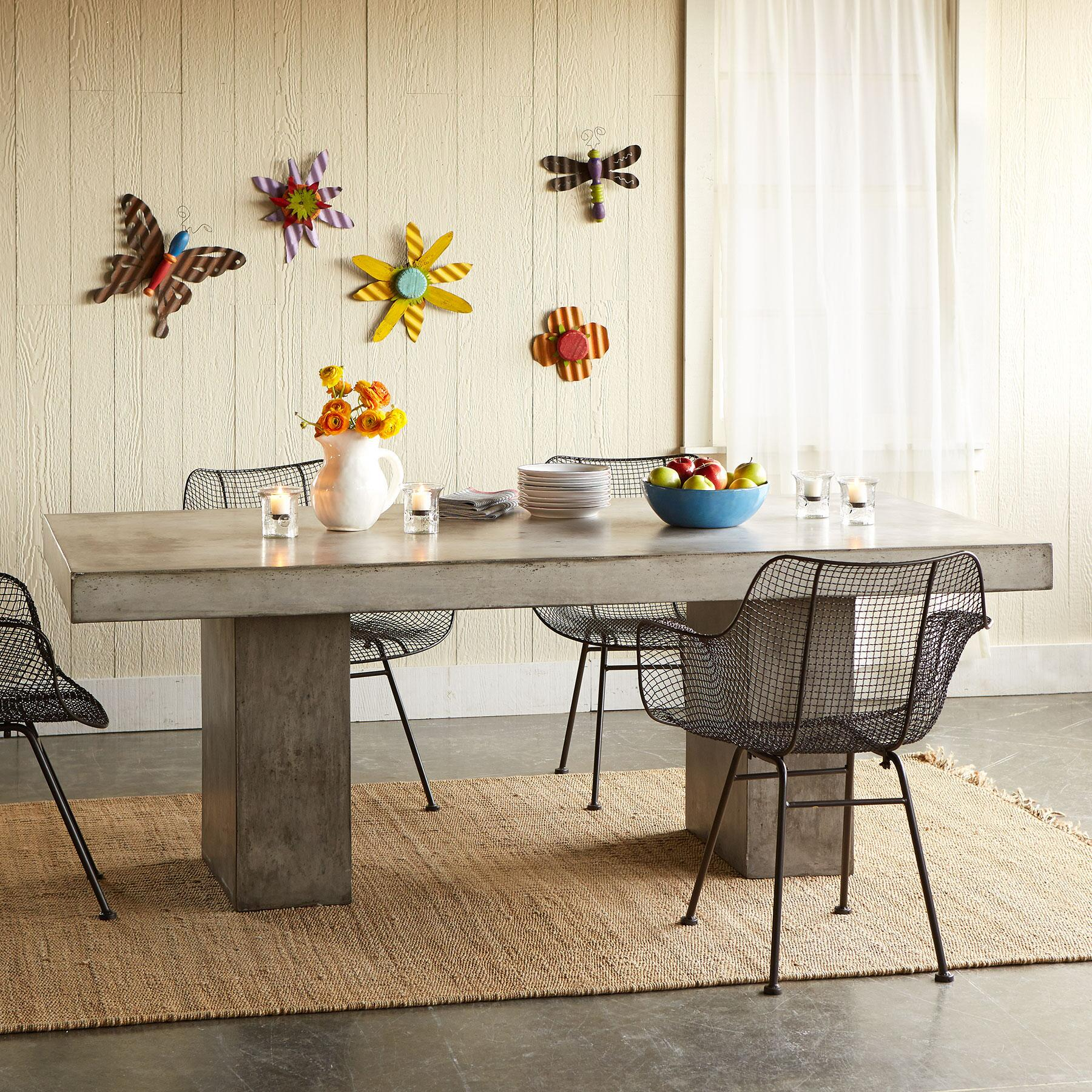 GRAVITAS CEMENT DINING TABLE 8': View 4